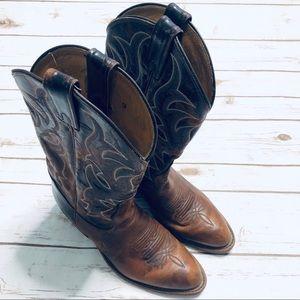 Tony Lama Shoes - Tony Lama Prine Dark Brown Western Cowboy Boot